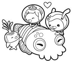 octonauts meet giant squid coloring download u0026 print