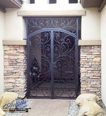 wrought iron security gate front door nucleus home doors tucson