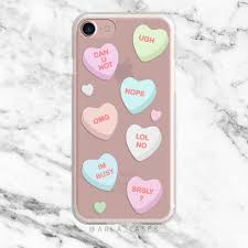 candy hearts valentine u0027s day clear phone case with print u2013 arla