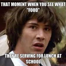 School Lunch Meme - gross school lunch by rainbowunikitty406 meme center