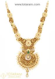 gold necklace with stones images 22k gold 39 peacock 39 necklace with cz color stones japanese jpg