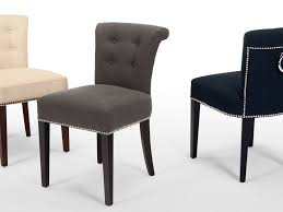 fabric dining room chairs adele grey upholstered pair for