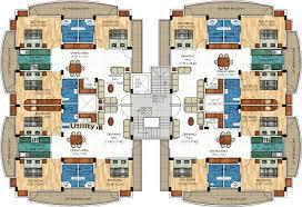 Quad Plex Plans F 559 Quadplex House Plans Multi Family 5594 Unit Apartment