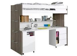 lit superpose bureau lit superposé 90x200 modèle avec bureau sans matelas