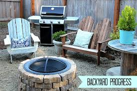 Building A Firepit In Your Backyard Easy Diy Firepit Progress On The Fall Backyard Makeover Project