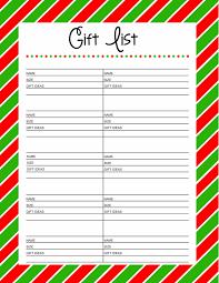 gift list free printable gift list 25 days to an organized christmas