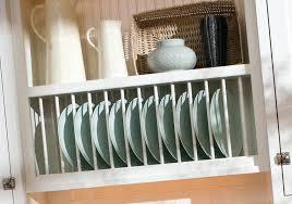 kitchen cabinet plate storage kitchen dish storage a decorative plate rack cabinet in the kitchen
