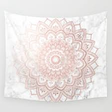 gold rose pattern 8319 wall tapestries society6