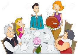 photos of thanksgiving dinner dinner family clipart collection