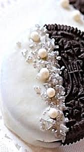 where can i buy white chocolate covered oreos white silver pearl chocolate covered oreos edible wedding