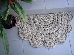 Jute Kitchen Rug Doormat Half Circle Crochet Jute Door Rug Kitchen By Stefkowo