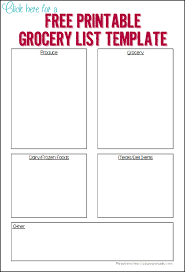 make grocery shopping easier with these 3 printable grocery
