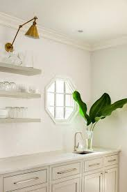 Octagon Window Curtains Octagon Window Over Prep Sink Transitional Kitchen