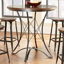 bar height glass table steve silver adele round counter height dining table walmart com