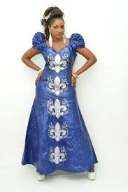 blue maxi dress with silver embroidery latest african fashion