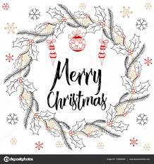 holidays modern calligraphy merry christmas hand drawn brush
