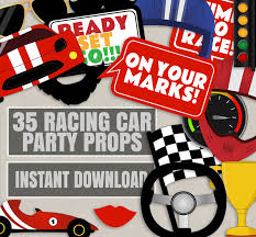 themed photo booth 35 race car themed party photo props racing car party decor