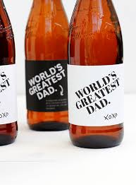 free printable father u0027s day beer bottle label julep