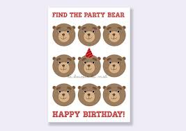 printable birthday card with bears fun greeting card by
