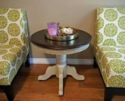 round coffee table and end tables solid oak round end table refinished in annie sloan country grey