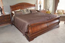 King Sleigh Bed Frame Sleigh Beds King Size Wood Sleigh Beds King For Modern Bedroom