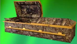 camo casket great outdoors meets great beyond sportsmen and hunters now opt