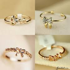 simple rings gold images Beautiful gold love and bow rings lt 3 jewlery pinterest jpg