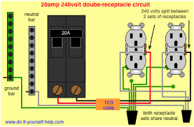 wiring diagram for a row of receptacles multiple receptacles