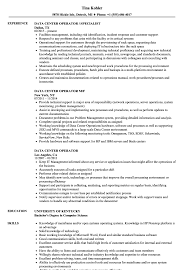 sle of resume data center operator resume sles velvet