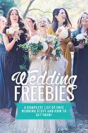 Our Wedding Day Sassy Red by Wedding Freebies A Complete List Of Free Wedding Stuff And How To