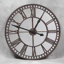 large round mirrored wall clock