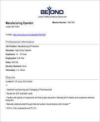 manufacturing job resume job resume examples 8 free word pdf format download free