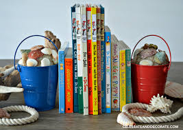 how to make beach pail bookends celebrate u0026 decorate
