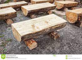 primitive log benches stock photos image 33831043
