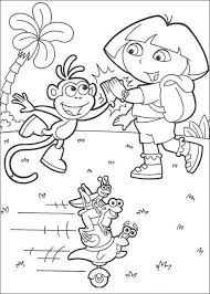 dora explorer coloring pages dora boots fiesta trio