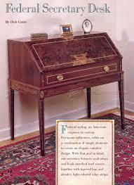 Chippendale Secretary Desk by Federal Secretary Desk Plans U2022 Woodarchivist