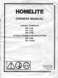 100 homelite repair manual genuine spare parts for all the