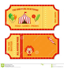 circus tickets template stock vector image 41697734