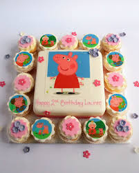 peppa pig cupcakes last minute peppa pig sround about s cakes