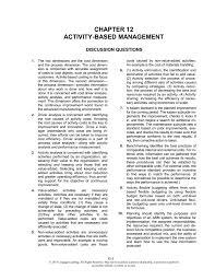chapter 12 activity based management