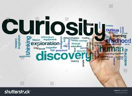 curiosity word cloud concept discovery search stock photo