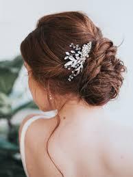 hair comb accessories stunning gold rhinestone leaf bridal hair comb chelsea bridal
