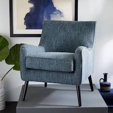 West Elm Armchair Available In 3 Shades Of Blue Book Nook Armchair Heathered Weave