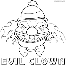 scary clown coloring pages coloring pages to download and print