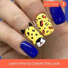 cute tiger nail art tutorial u2013 mitty nail art tools u0026 brushes