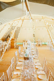 at home rustic tipi wedding with navy wedding party
