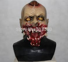 Super Scary Halloween Masks Aliexpress Com Buy Popular Newest Latex Devil Horror Mask Rubber