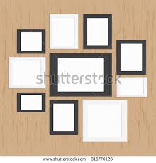 picture frame gallery on wood modern stock vector 315776126