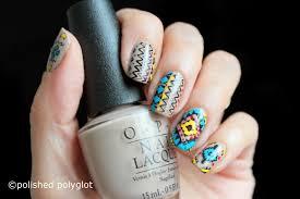nail art ethnic hippie boho design using opi fiji collection