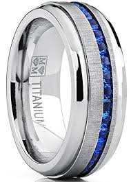 wedding band and engagement ring men s eternity titanium wedding band engagement ring w